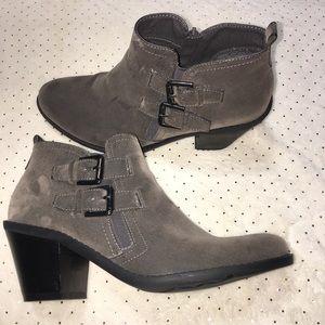 Like New! Gray Booties with Heel